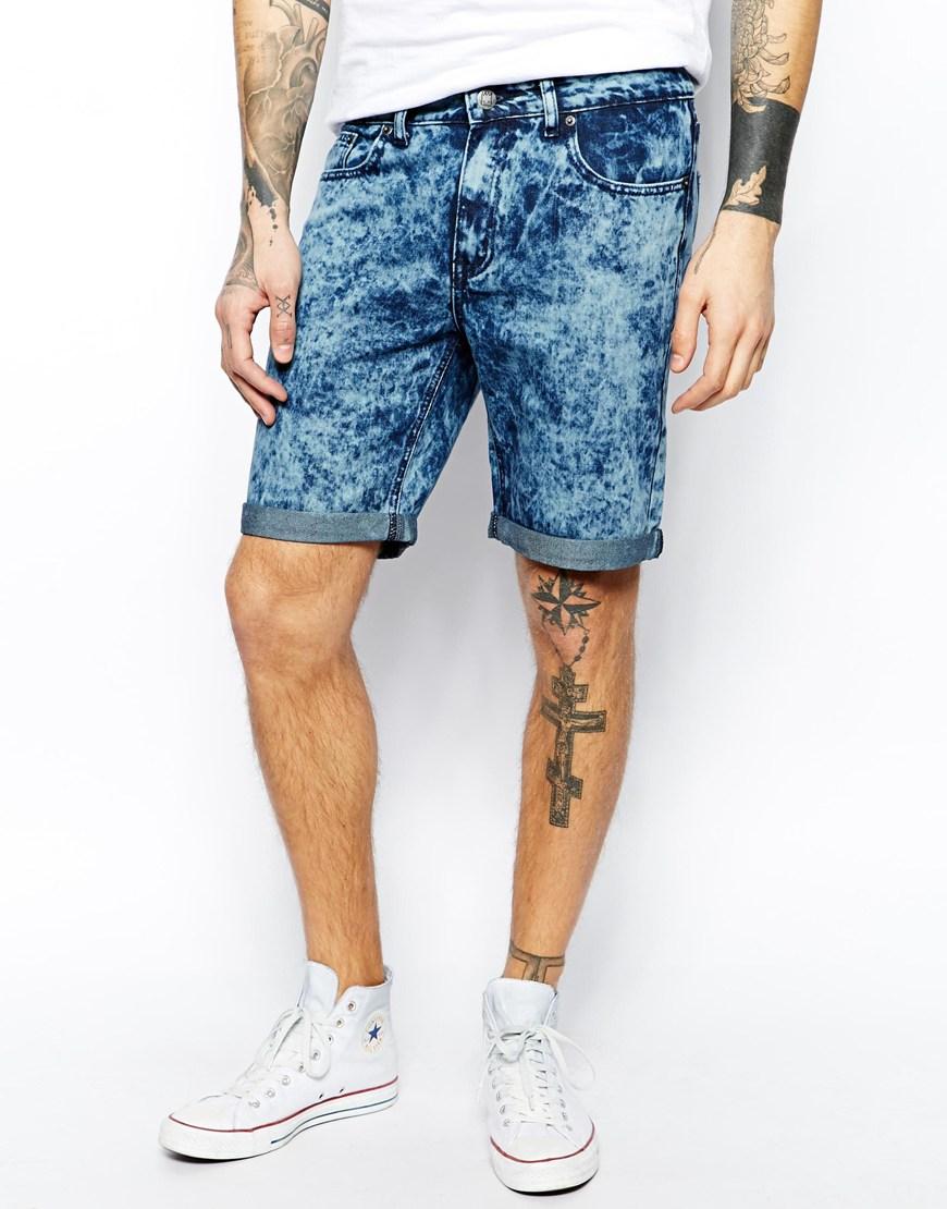 zee-gee-why-denim-shorts-rattle-my-bones-slim-fit-buzzy-blue-acid