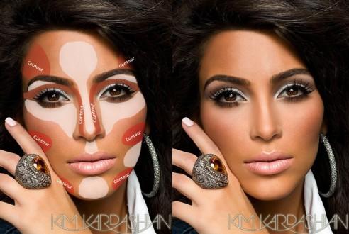 Kim-Kardashian-Contouring-Makeup-Guide-Pinterest-3-492x330