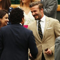 David Beckham Wears Ralph Lauren At Wimbledon 2014 Championships