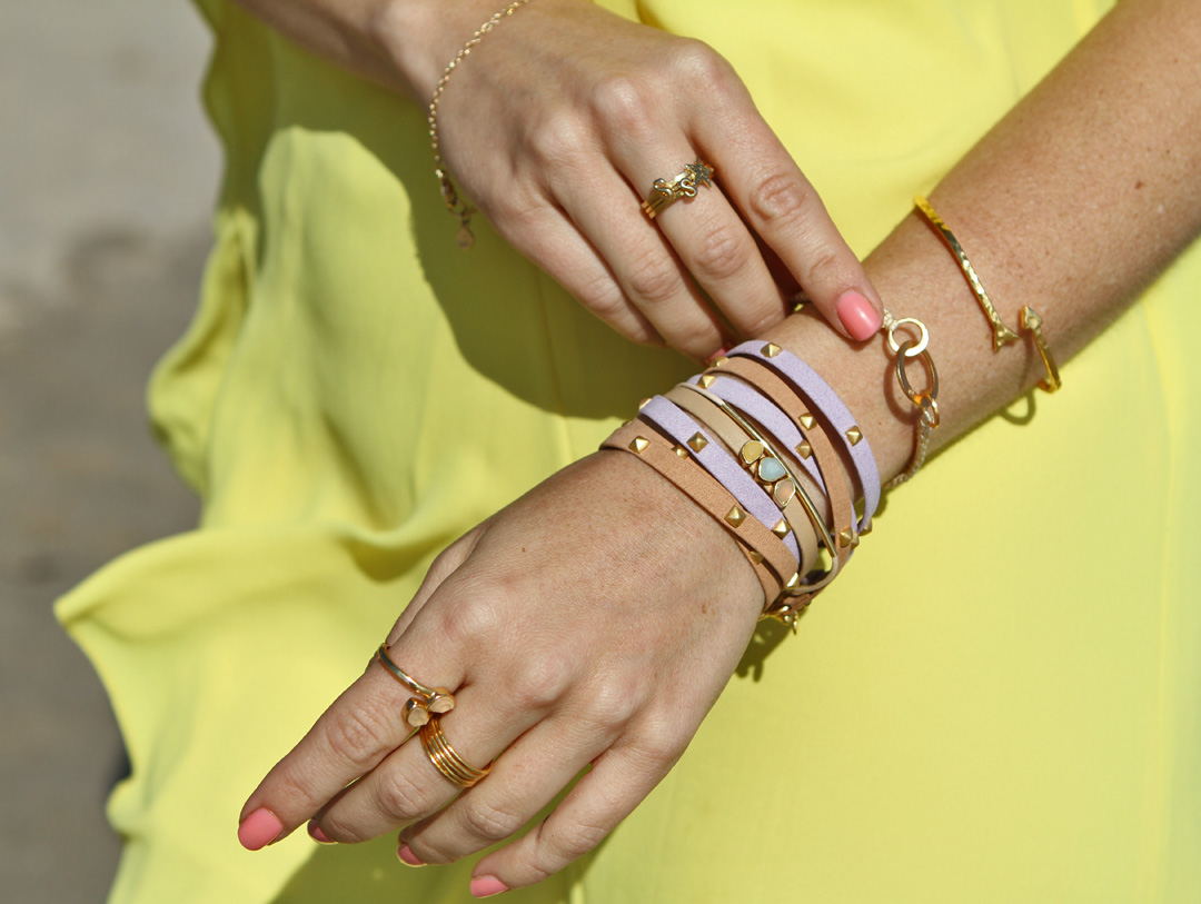 Sydne-Style-Gorjana-Griffin-summer-arm-style-arm-party-jewerly-bracelets-gold-leather-wrap-style-stones