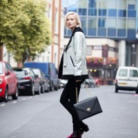 Portia Freeman Wears Rosalina Nacken Shelle Handbag