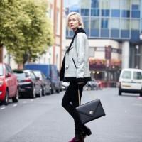 Portia Freeman Wears Rosalina Nacken Shelle Handbag