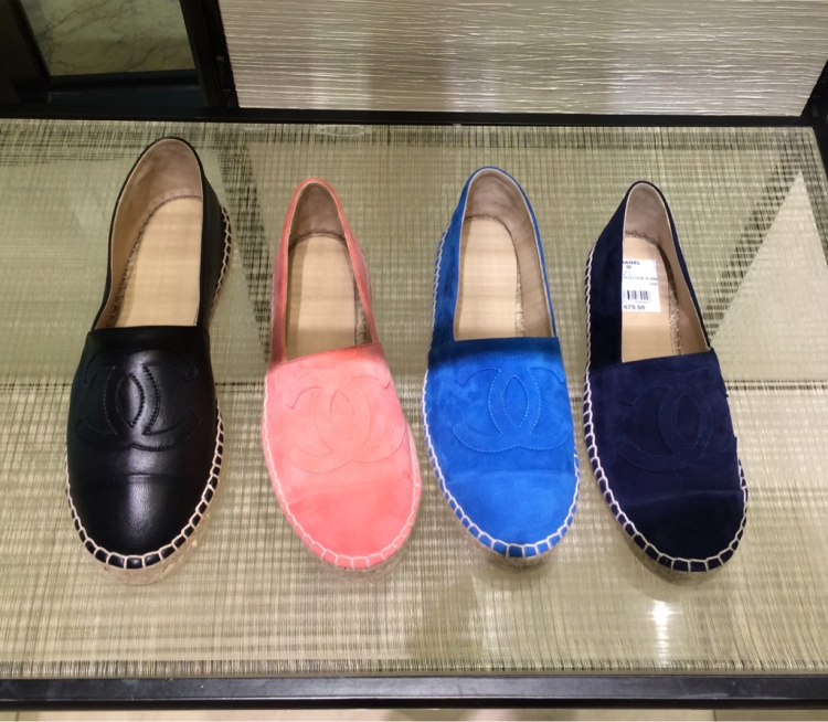 chanel-espadrilles-suede-leather-navy-blue-pink-black