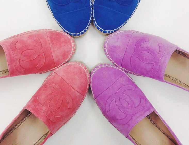 Purple Chanel Espadrilles Chanel Cruise 2015 Espadrilles