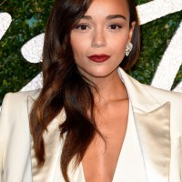 Ashley Madekwe in a Banana Republic Ivory Suit