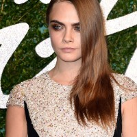 Cara Delevingne in a Burberry Prorsum Gown