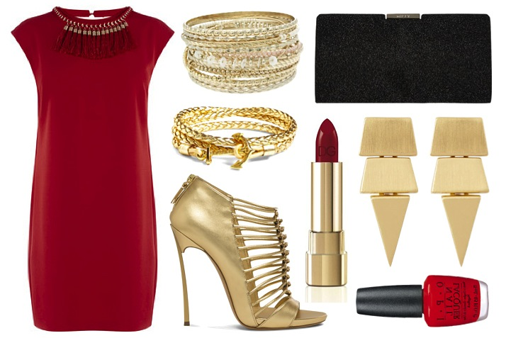 red-dress-gold-shoes-party-holiday-outfit