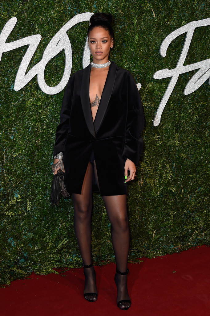 Rihanna in a Stella McCartney Tuxedo Jacket