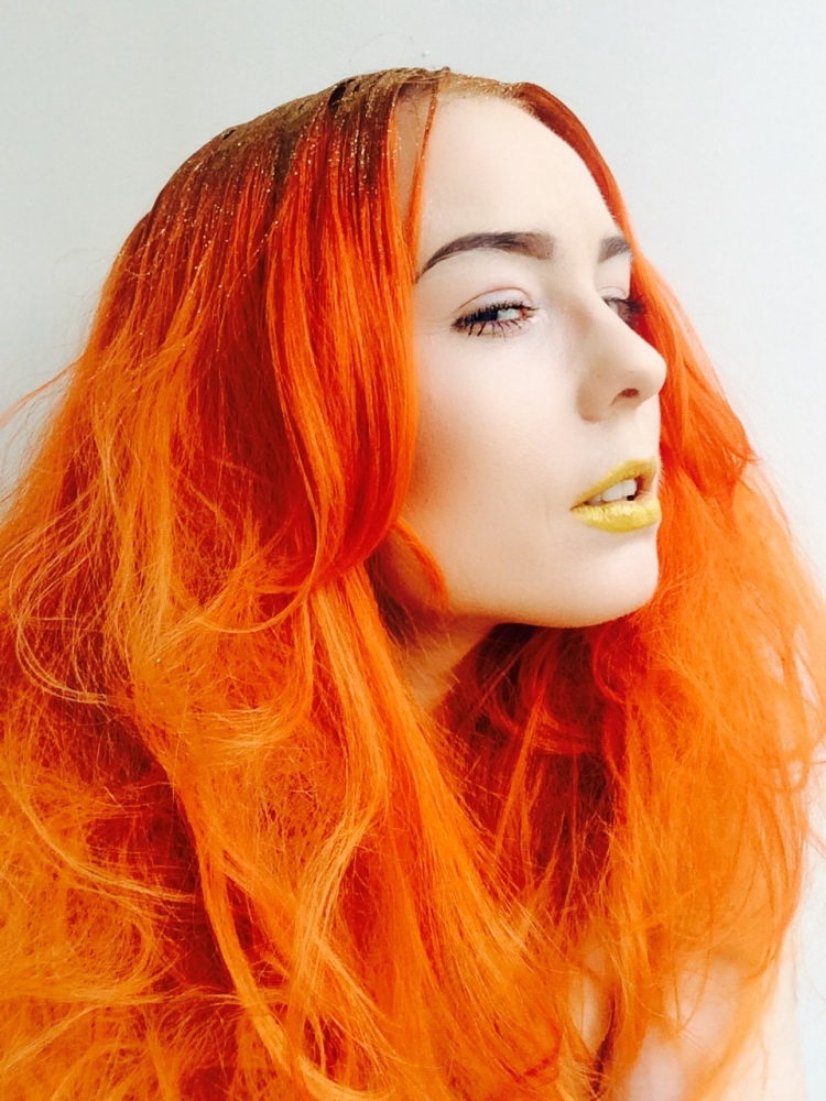 glitter-hair-hairstyle-orange