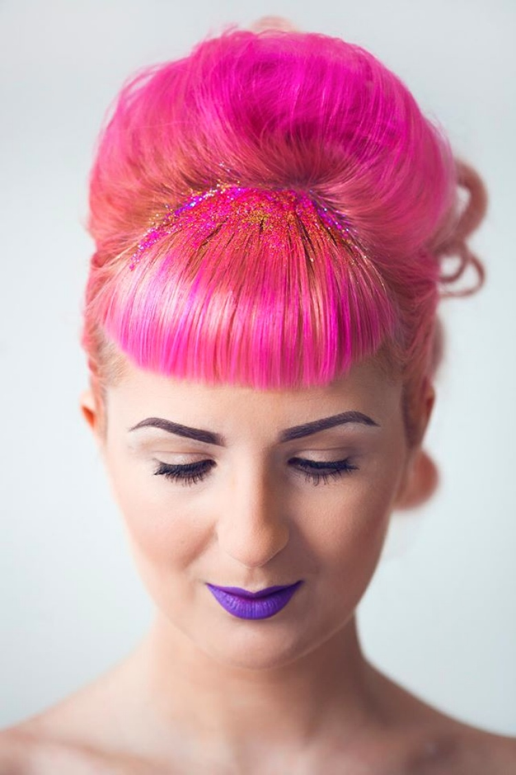 glitter-hair-hairstyle-pink