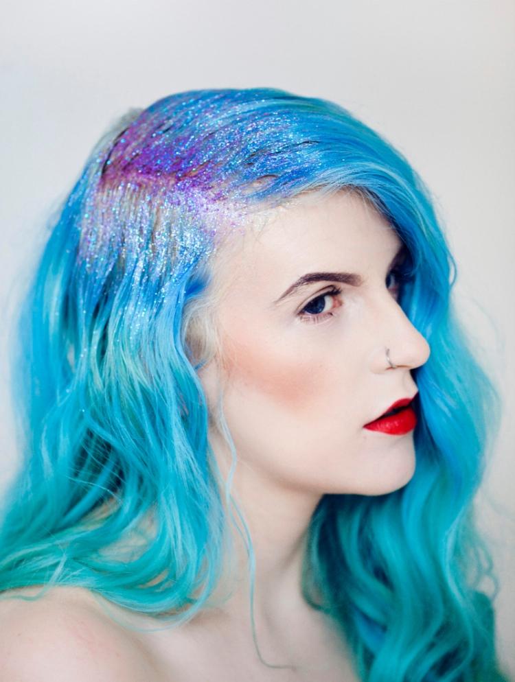 glitter-hair-hairstyle