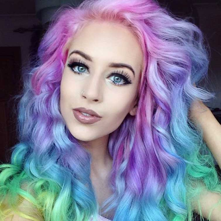 Rainbow ombre mermaid inspired hair the fashion supernova pastel hair trend 1 solutioingenieria Images