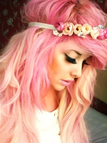 pink peach hair