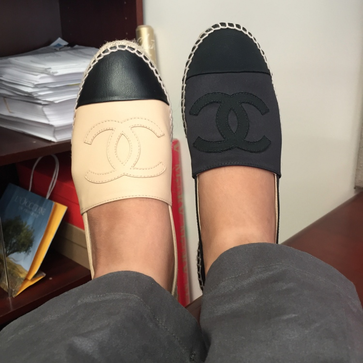chanel espadrilles satin 2