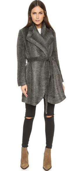 abra patterned coat