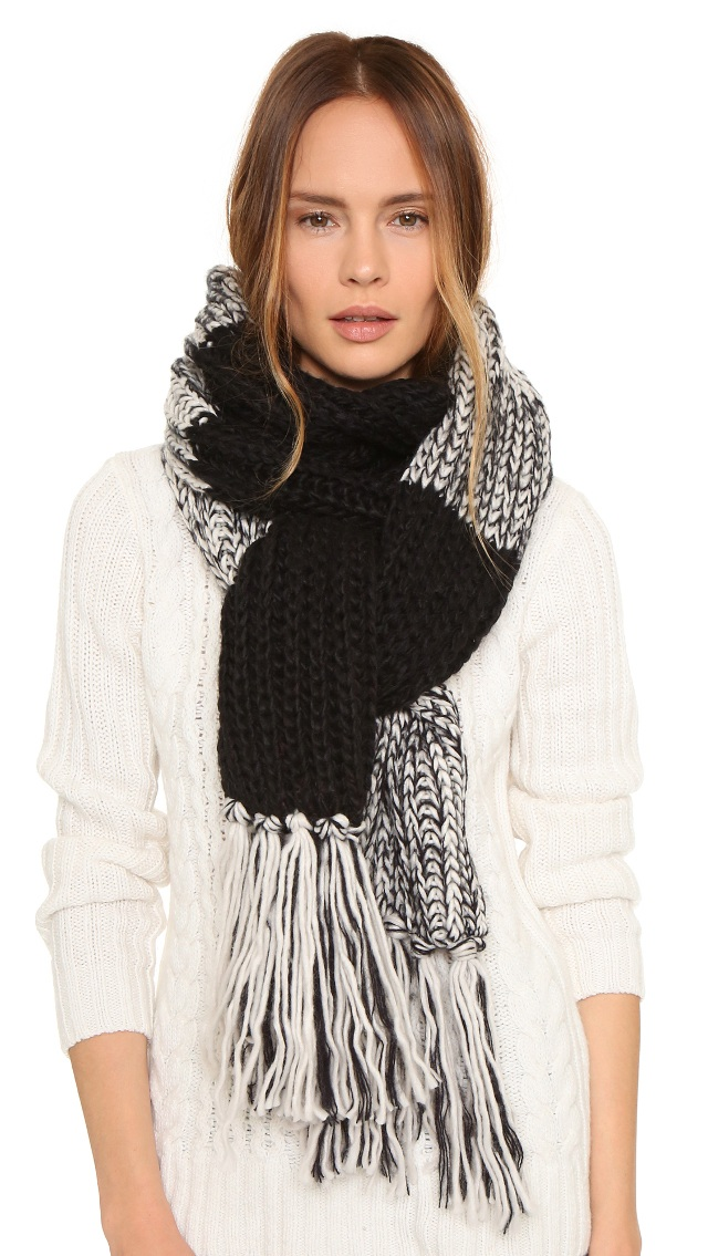 black grey scarf