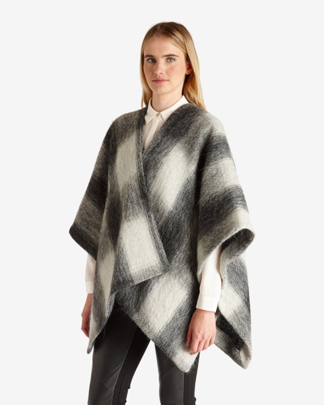 ted baker EMMAA Brushed wool checked cape