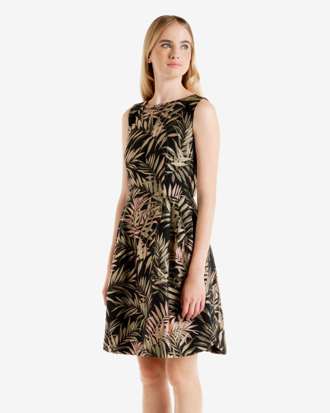 ted baker LOURYN Palm Jacquard dress
