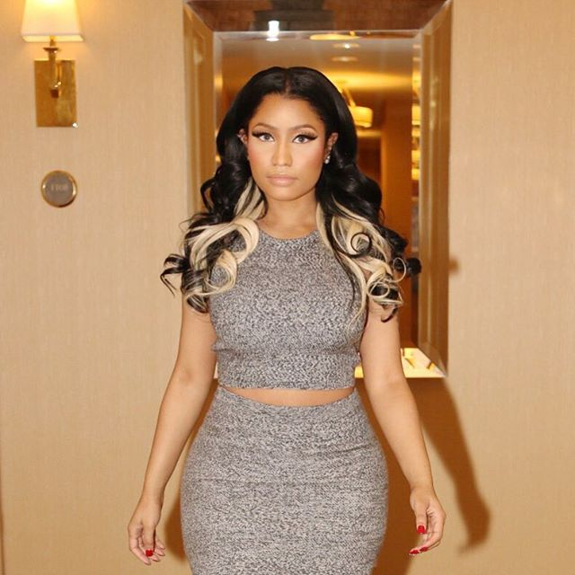 Nicki Minaj Wears Alice + Olivia Top and Skirt 4