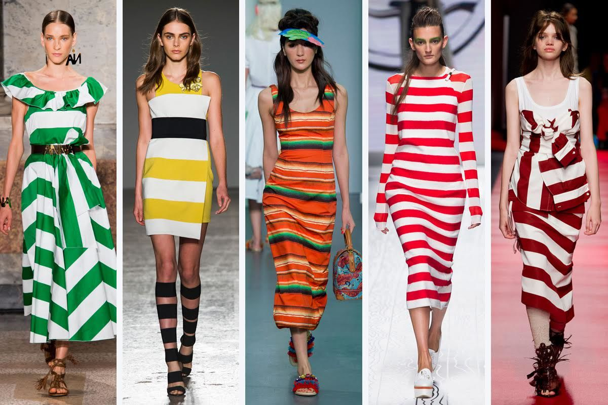 bold stripes catwalk runway