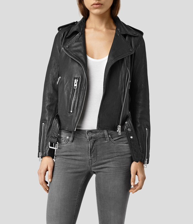 all saints balfern leather jacket black