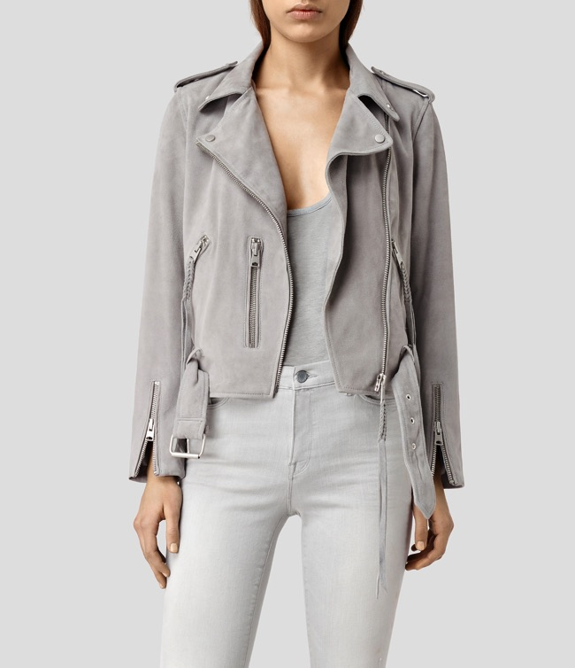 all saints balfern plait jacket grey