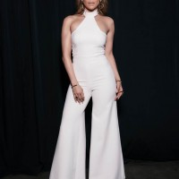 Jennifer Lopez Wears A Wide Leg Vatanika White Jumpsuit
