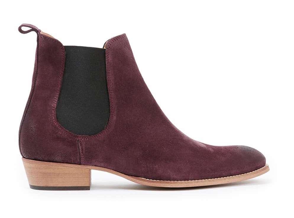 topman burgundy chelsea boots