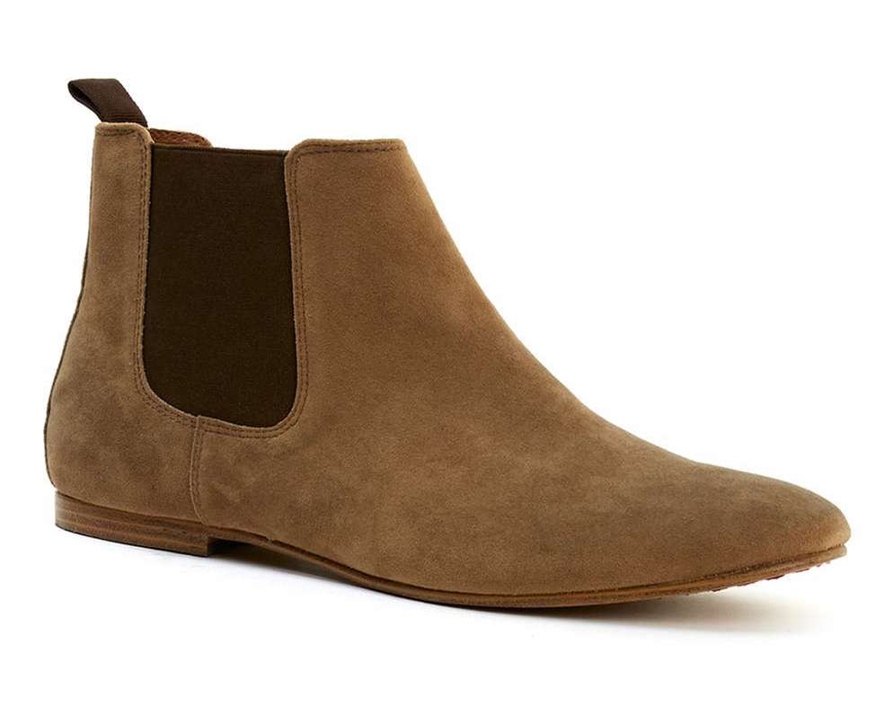 topman chelsea boots light brown